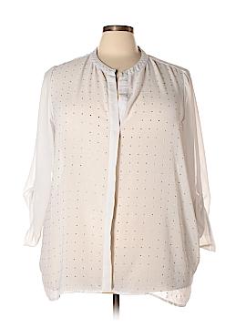 Design History Long Sleeve Blouse Size 3X (Plus)