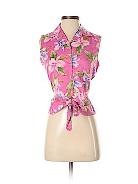 Jones New York Signature Sleeveless Button-Down Shirt Size S