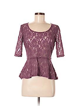 Eyelash Couture Short Sleeve Blouse Size M
