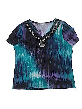 Essentials Short Sleeve Blouse Size 1X (Plus)