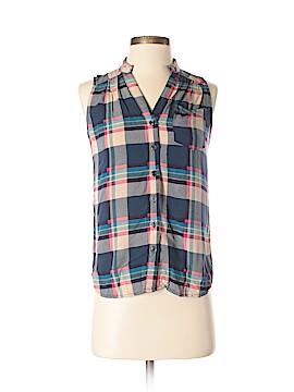 Fun2Fun Sleeveless Button-Down Shirt Size S