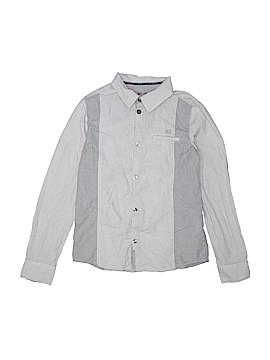 Jean Bourget Long Sleeve Button-Down Shirt Size 10