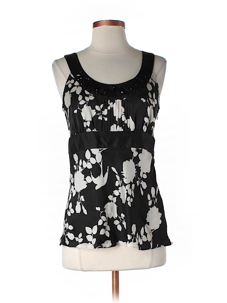 White House Black Market Women Sleeveless Silk Top Size 4