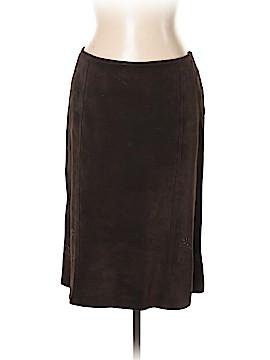 So Blue Sigrid Olsen Leather Skirt Size 12