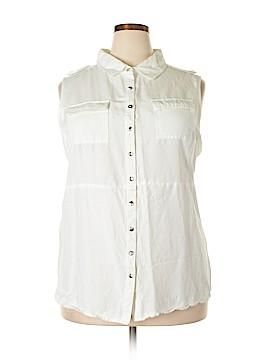 Ashley Stewart Sleeveless Button-Down Shirt Size 20 (Plus)