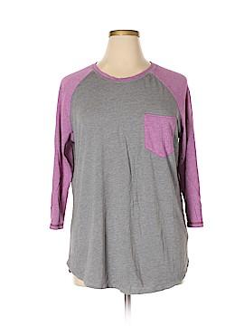 Danskin Now 3/4 Sleeve T-Shirt Size 1X (Plus)