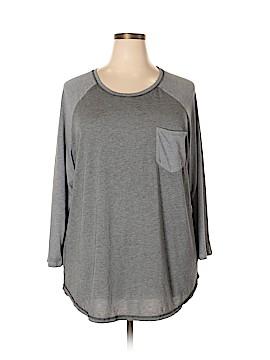 Danskin Now 3/4 Sleeve T-Shirt Size 4X (Plus)
