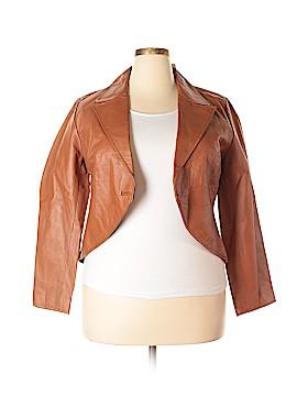 Newport News Leather Jacket Size 18 (Plus)