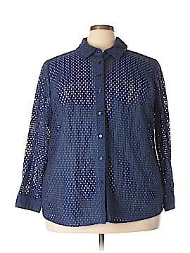 Denim Co Long Sleeve Button-Down Shirt Size 3X (Plus)