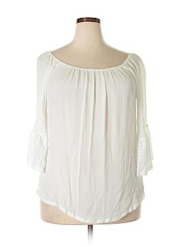 Solitaire 3/4 Sleeve Blouse Size 2X (Plus)