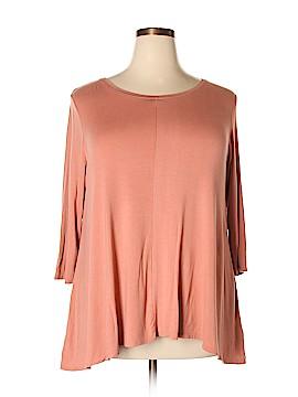 Philosophy Republic Clothing 3/4 Sleeve Top Size 1X (Plus)