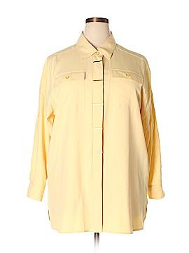 Linea Long Sleeve Silk Top Size 1X (Plus)
