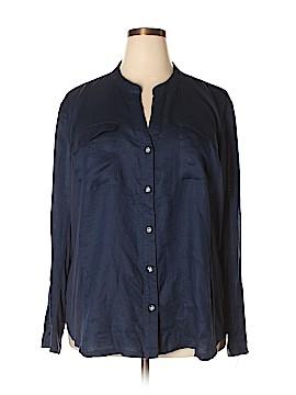 INC International Concepts Long Sleeve Button-Down Shirt Size 3X (Plus)