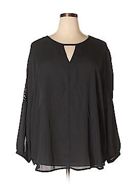 Harve Benard Long Sleeve Blouse Size 2X (Plus)