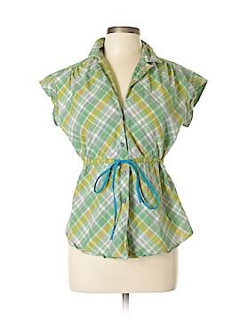 Fei Short Sleeve Button-Down Shirt Size 10