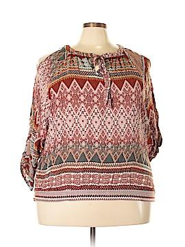 Umgee 3/4 Sleeve Blouse Size 2X (Plus)