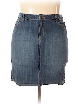 Lands' End Denim Skirt Size 14 (Petite)