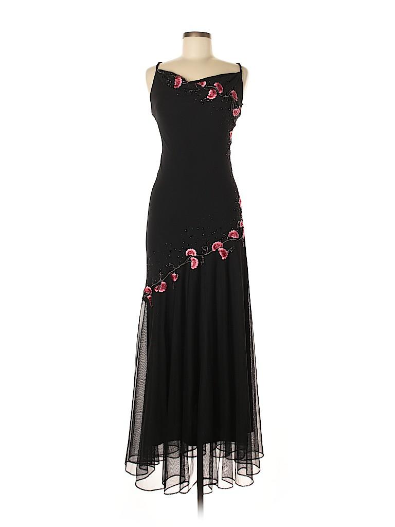 b734256fb12 DressBarn 100% Polyester Solid Black Cocktail Dress Size 6 - 69% off ...