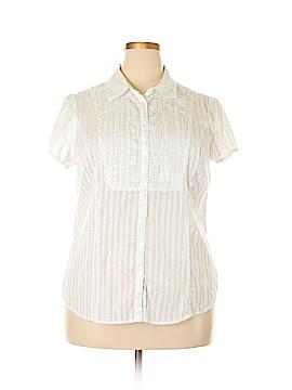 Style&Co Short Sleeve Blouse Size 18 (Plus)