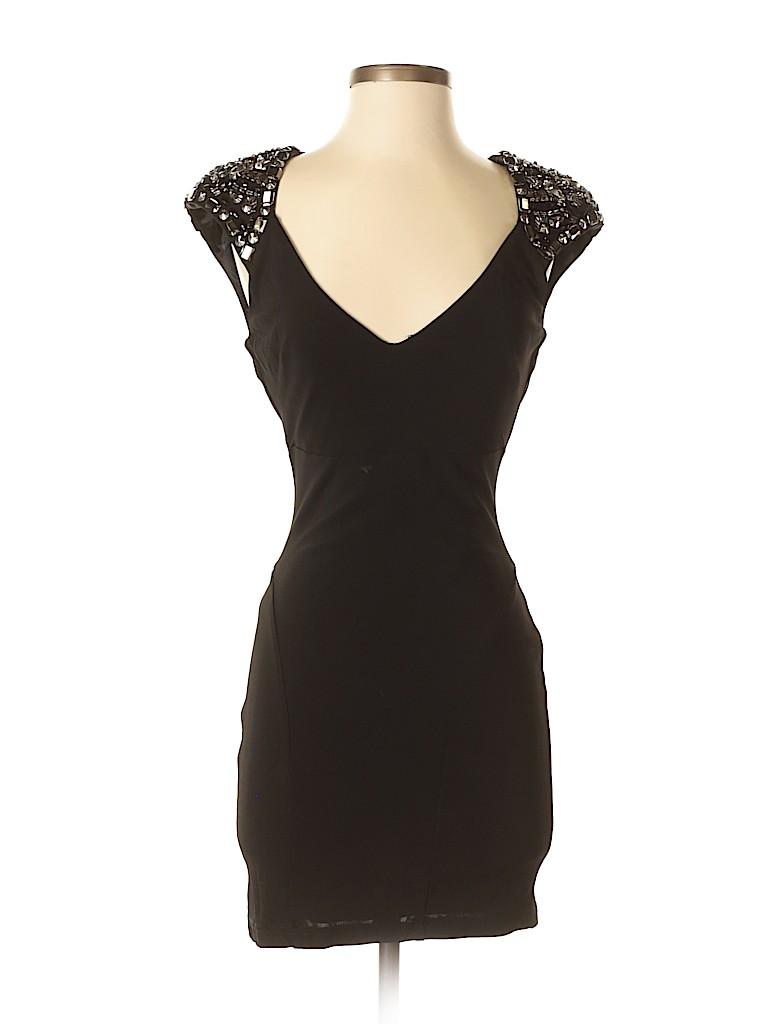 Bebe Solid Black Cocktail Dress Size S - 72% off | thredUP