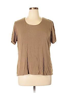Susan Graver Short Sleeve T-Shirt Size 1X (Plus)