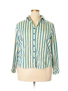Evan Picone Long Sleeve Button-Down Shirt Size 18w (Plus)