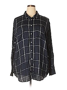 Stylus Long Sleeve Button-Down Shirt Size 3X (Plus)