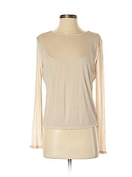 Calvin Klein Long Sleeve Silk Top Size S