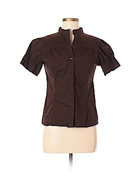 Zara TRF Short Sleeve Button-Down Shirt Size L