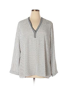Halogen Long Sleeve Blouse Size 2X (Plus)