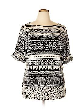 Karen Kane Short Sleeve T-Shirt Size 1X (Plus)