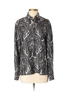 Emanuel by Emanuel Ungaro Long Sleeve Silk Top Size 4