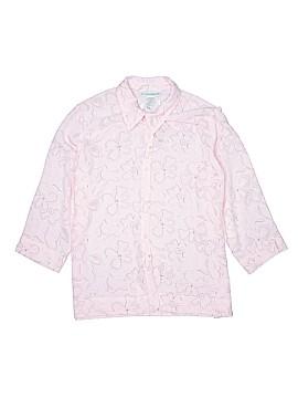 Sag Harbor 3/4 Sleeve Button-Down Shirt Size L
