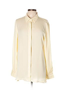 Vince. Long Sleeve Silk Top Size 12