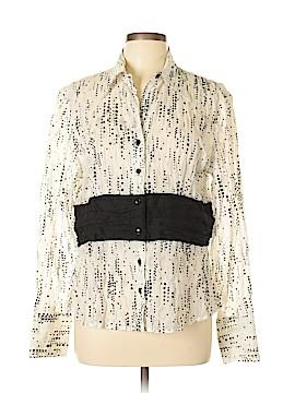Samuel Dong Long Sleeve Button-Down Shirt Size L