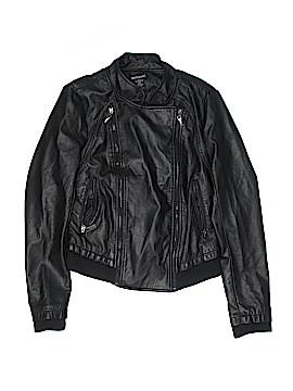 Wet Seal Faux Leather Jacket Size L