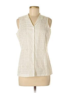 Jones New York Signature Sleeveless Button-Down Shirt Size M (Petite)