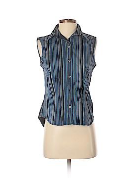 Harve Benard Sleeveless Button-Down Shirt Size S