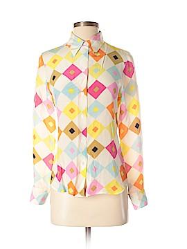 Max Studio Long Sleeve Silk Top Size S