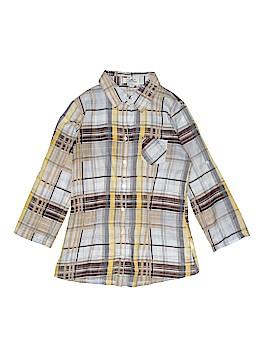 L.e.i. 3/4 Sleeve Button-Down Shirt Size S
