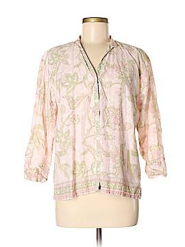 DressBarn 3/4 Sleeve Button-Down Shirt Size M