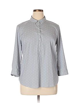 Lila Rose 3/4 Sleeve Button-Down Shirt Size XL
