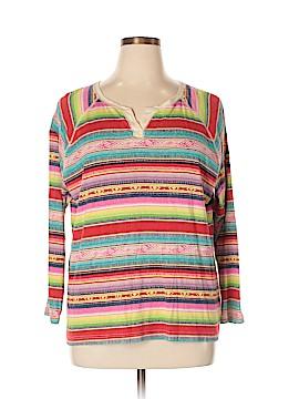 Chaps 3/4 Sleeve T-Shirt Size 3X (Plus)