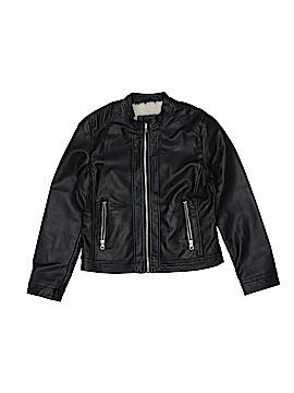 Me Jane Faux Leather Jacket Size 12