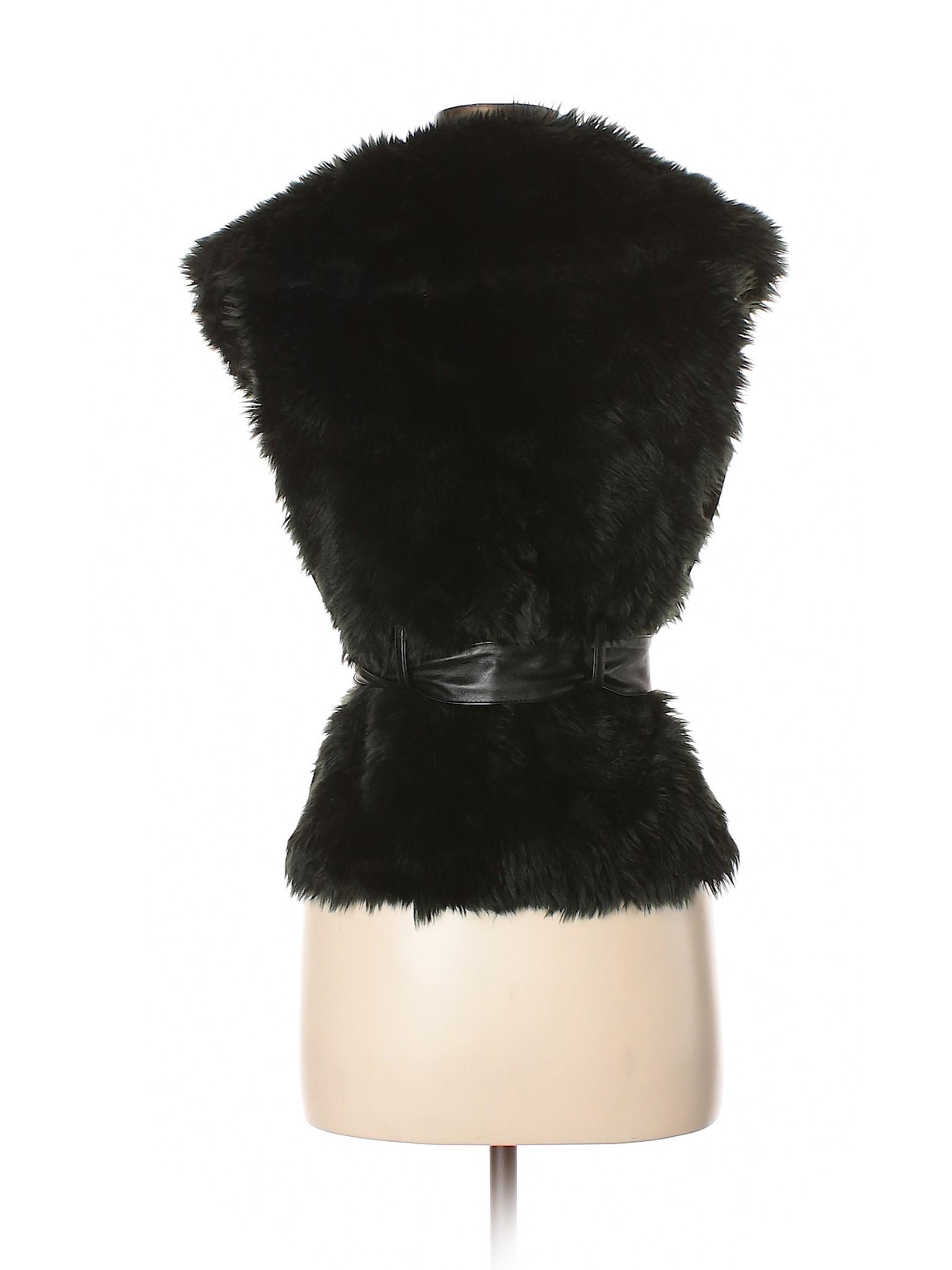 Blanc Fur Jacket Faux Noir Leisure winter 5T0qfwSx