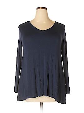 Roz & Ali 3/4 Sleeve T-Shirt Size 1X (Plus)