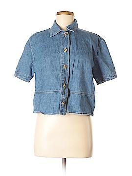 DressBarn Short Sleeve Button-Down Shirt Size 8