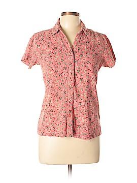 DressBarn Short Sleeve Button-Down Shirt Size M