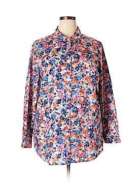 Roaman's Long Sleeve Button-Down Shirt Size 22 (Plus)