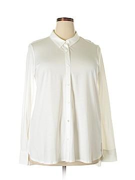 Eileen Fisher Long Sleeve Blouse Size XL